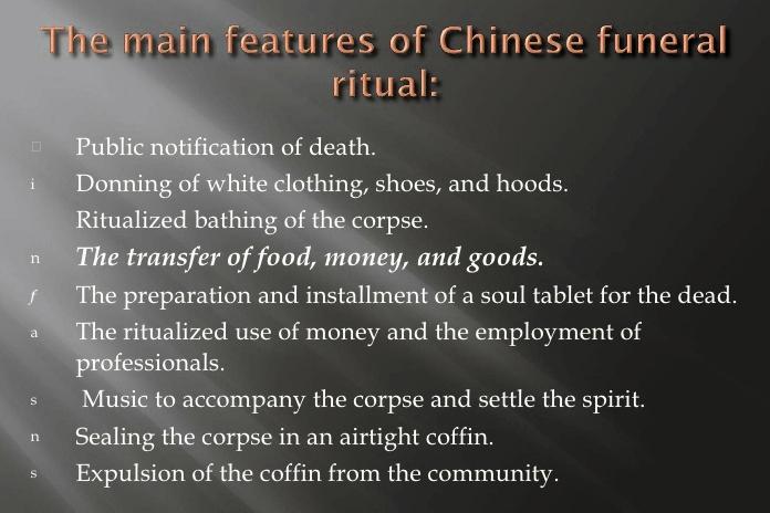 Chinese begrafenis rituelen