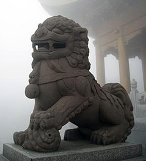 Chinese grafbeeld van een leeuw