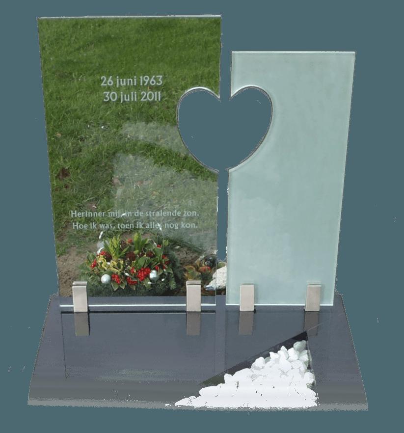 Combinatie graniet met blank en gematteerd glas AB129
