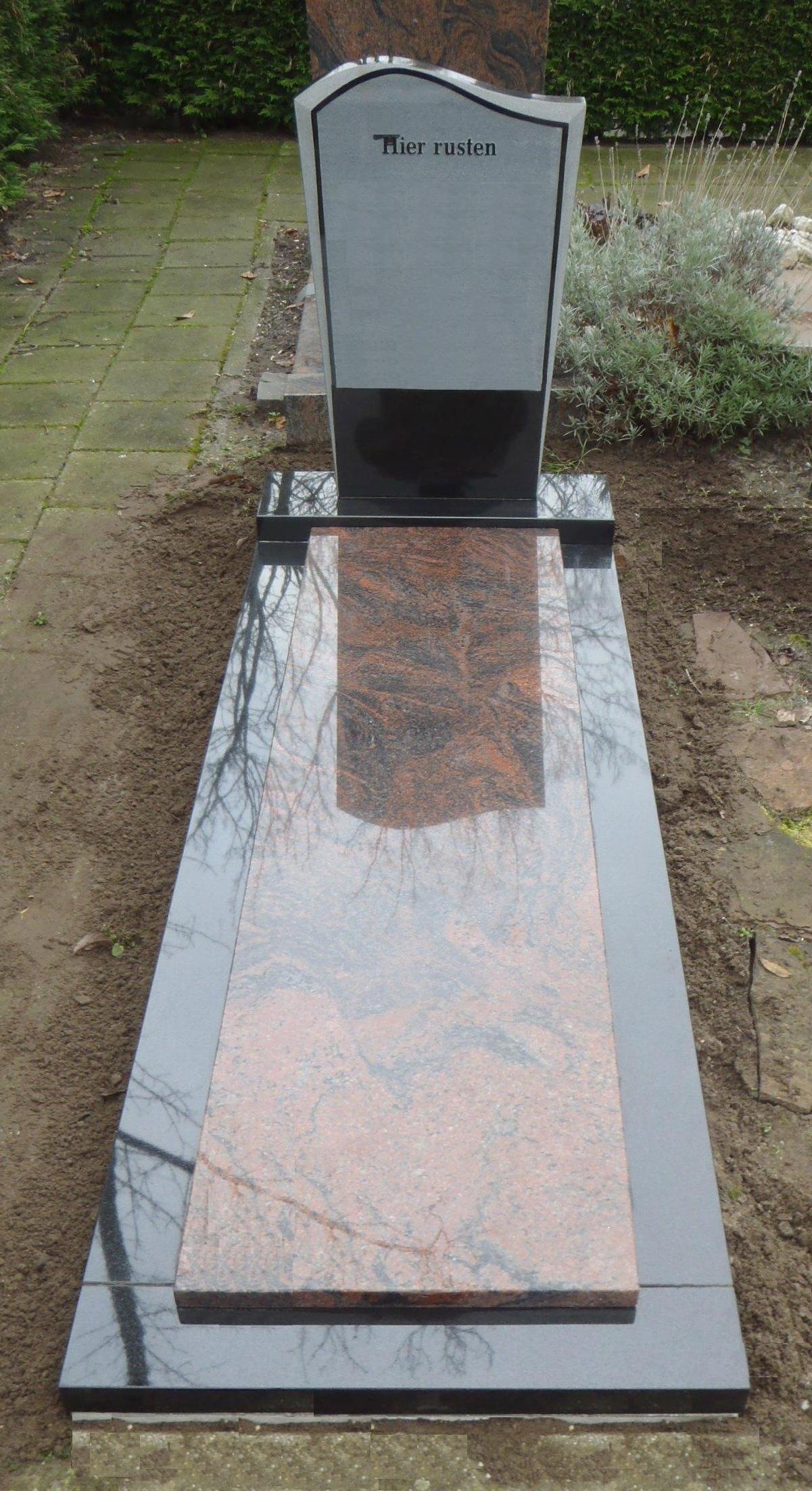 Letterplaat gedeeltelijk gezoet Zwart graniet dekplaat Halland graniet E010