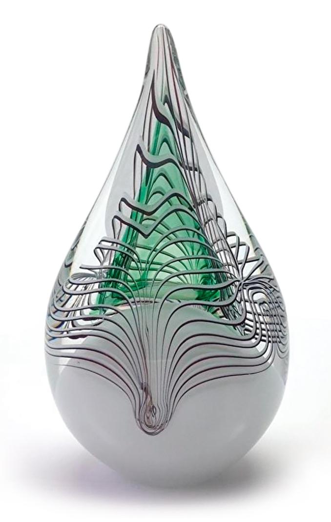 Glazen druppel met as UB019