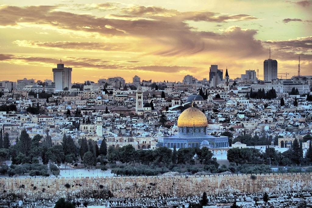 Joodse tempel in Jeruzalem sfeerbeeld