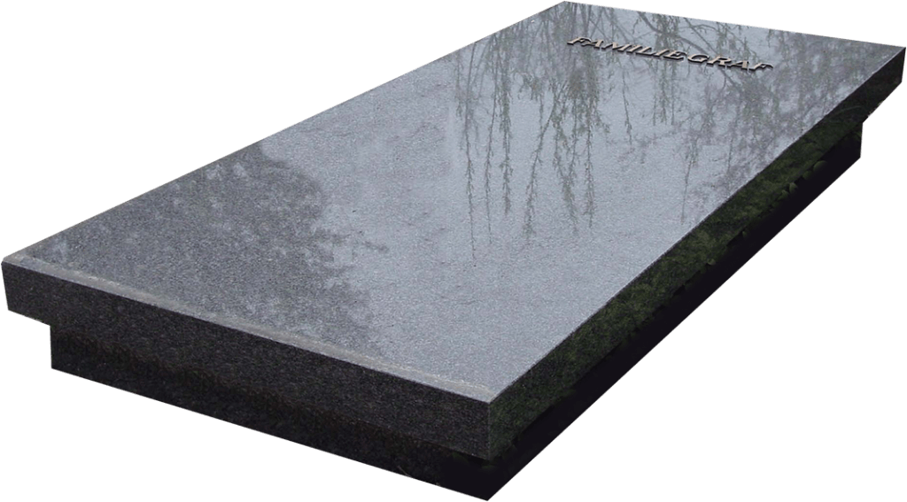 Zerk Impala graniet op betonroef zwart geverfd AB088