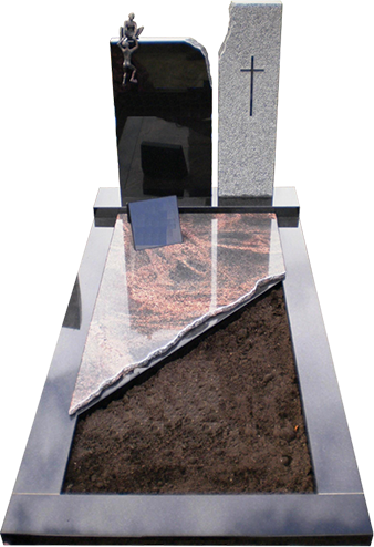 Natuursteen, RVS en glas grafstenen en grafmonumenten A-032