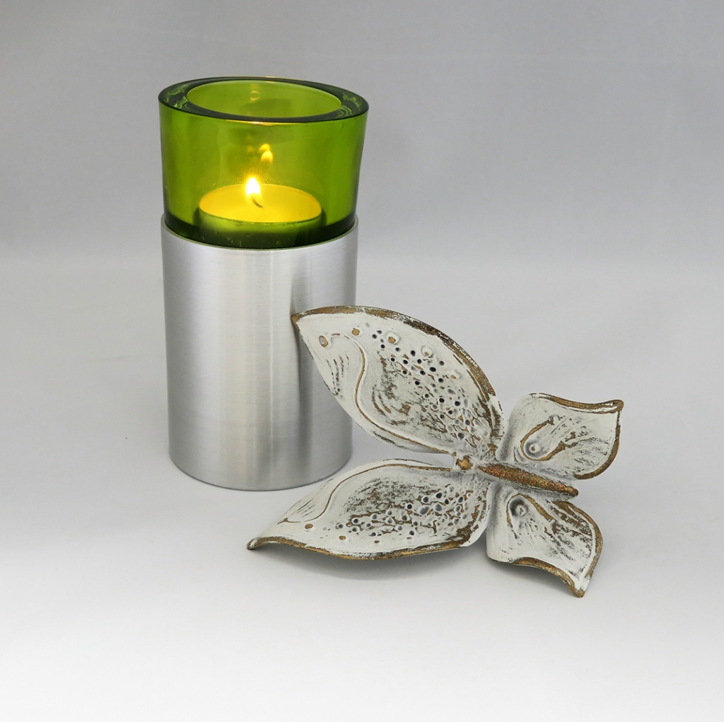 urn rvs waxinelicht groen UB030