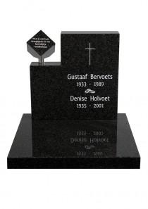 urnenmonument zwart graniet UB041